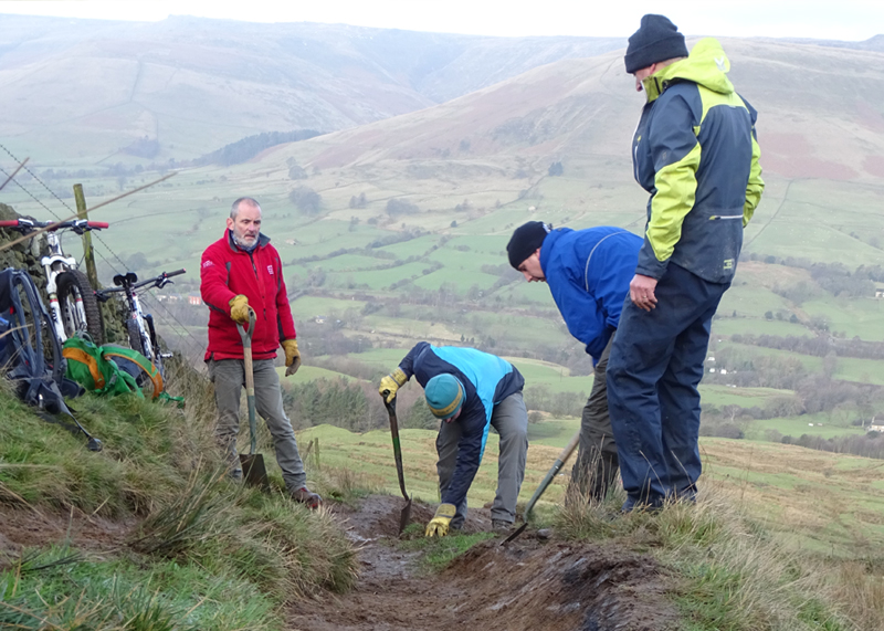 trail maintenance peak district