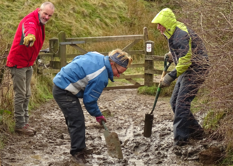 Mam Tor trail maintenance