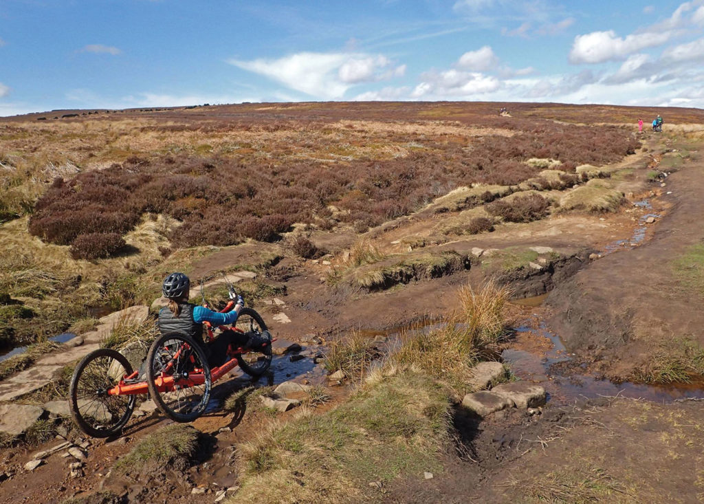 Cutgate bridleway, hand biking peak district, MTB, trail advocacy
