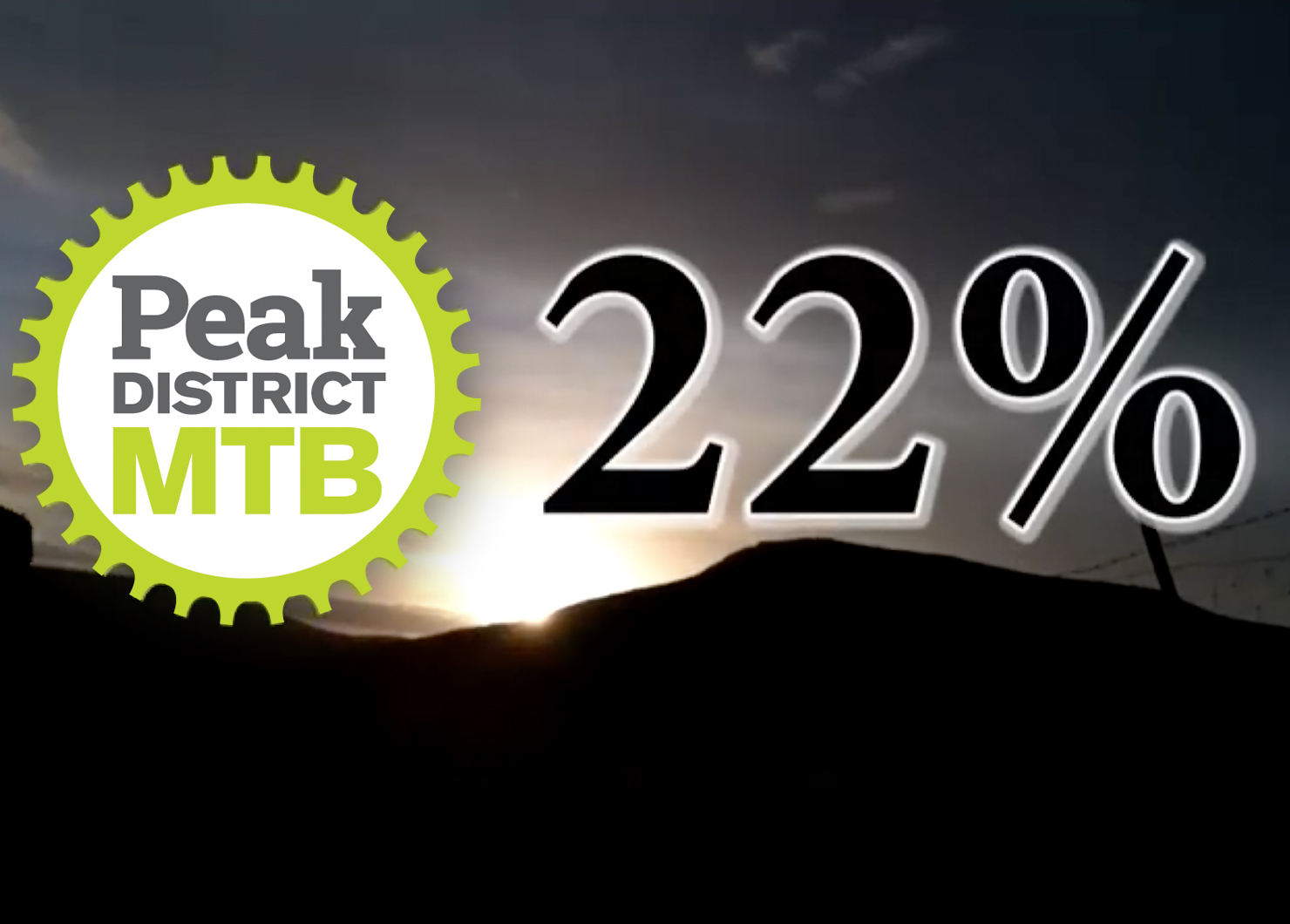 22% campaign Peak District MTB