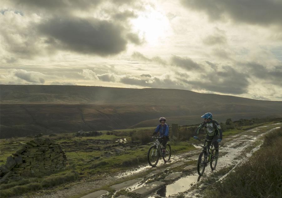 Holmfirth MTB route, Peak district mtb, mountain bike route peak district