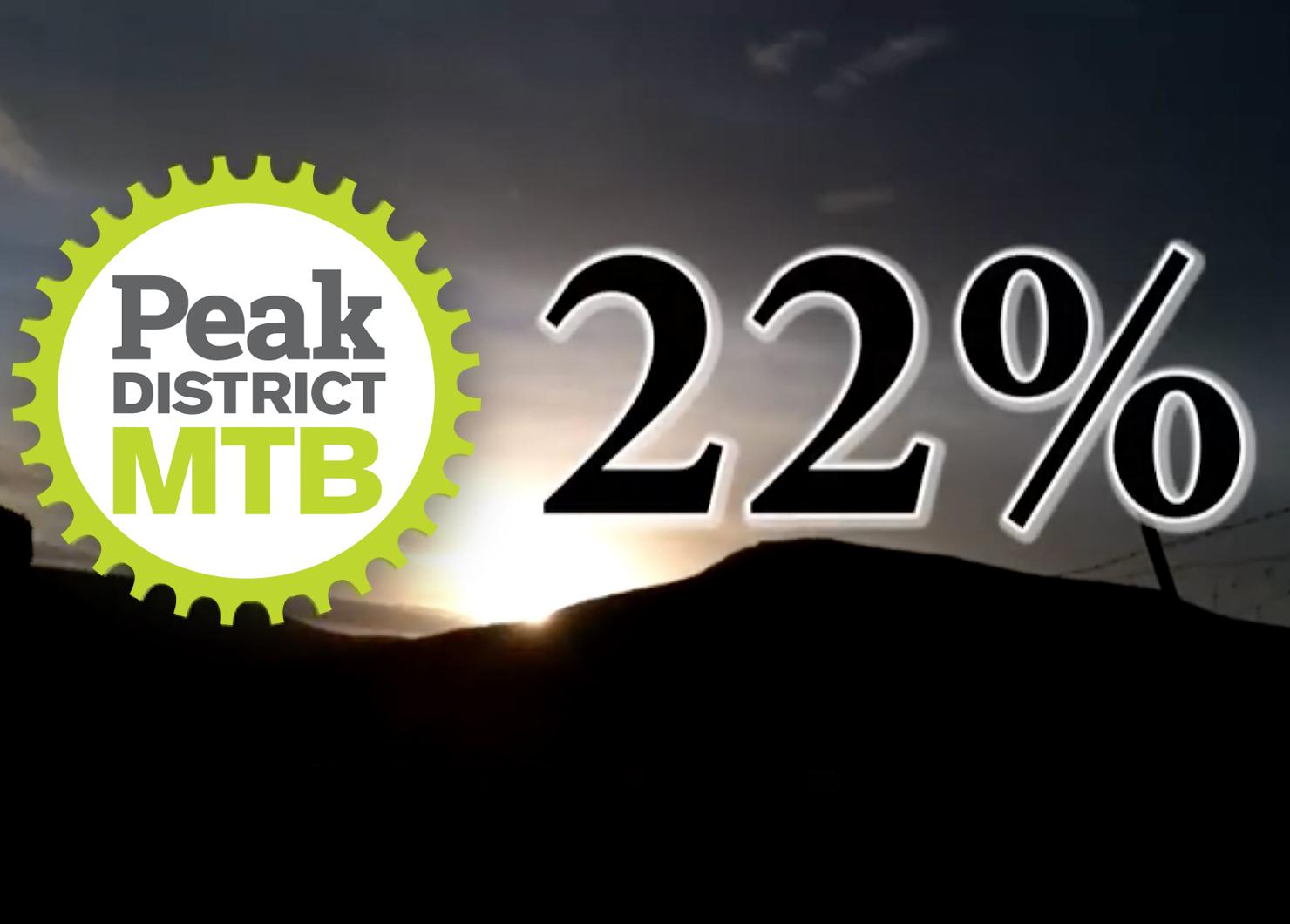 22% campaign Peak District MTB